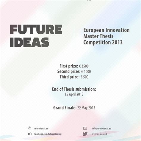masters thesis ideas future ideas european innovation master thesis competition