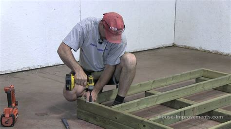 how to build floor how to build a shed part 1 building the floor youtube