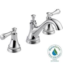 delta widespread bathroom faucet delta silverton 8 in widespread 2 handle bathroom faucet