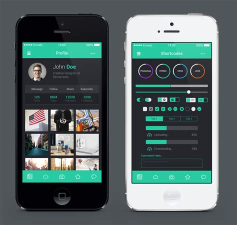 app design view ios 8 style mobile application ui design by rtralra