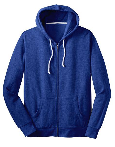 Zipper Hoodie district 174 mens fleece zip hoodie dt190