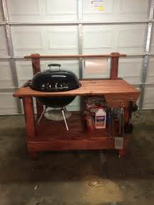 Nightstand Measurements Build A Barbecue Grill Table Diy Projects For Everyone