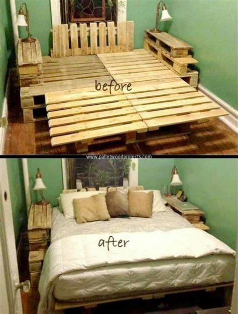 Pallet Bed Frame Diy Recycled Wood Pallet Bed Ideas Pallet Wood Projects