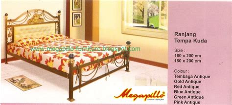 Ranjang Dan Bed megapillo furniture bed shop ranjang besi