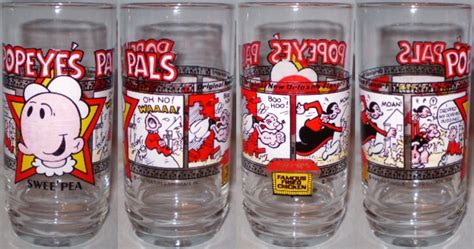 Does Popeyes Have Gift Cards - popeyes famous fried chicken glass 1979 popeye s pals swee pea promo glasses