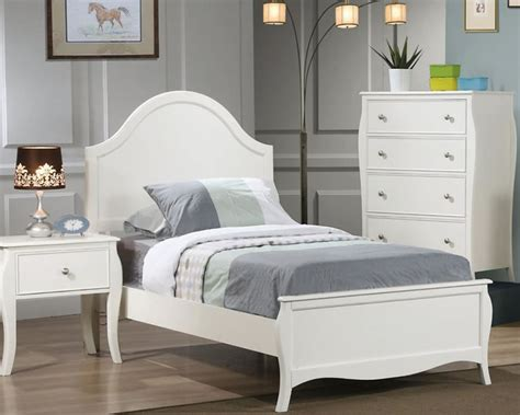 teenage beds white twin or full size youth bed