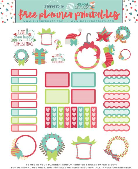 printable christmas decals free printable christmas planner stickers home office