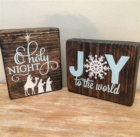 christmas wood block set christmas sign christmas decor