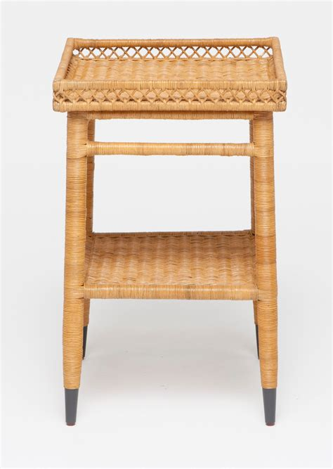 Wicker Side Table Layla Small Rattan Side Table Mecox Gardens