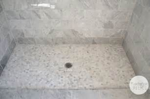 Marble Tile Bathroom Floor Carrara Marble Master Bath Flip House Update