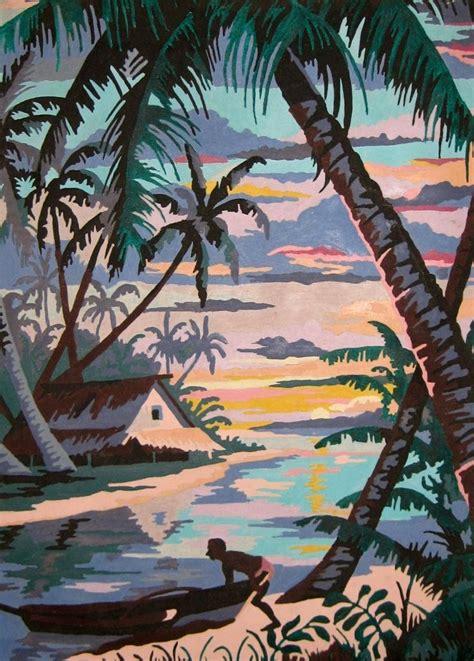 number painting vintage paint by number paintings vintage tropical
