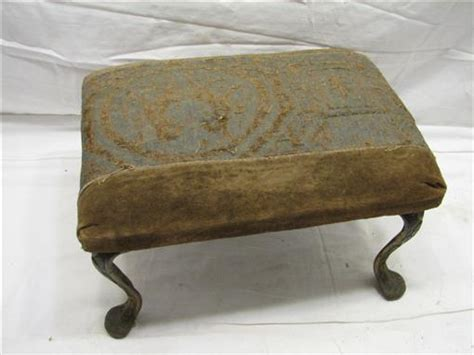 upholstered bench with wrought iron legs antique nouveau cast iron leg upholstered bench stool