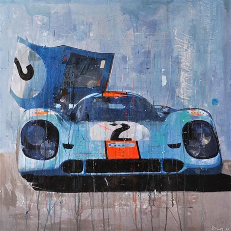porsche garage art automobile art by markus haub