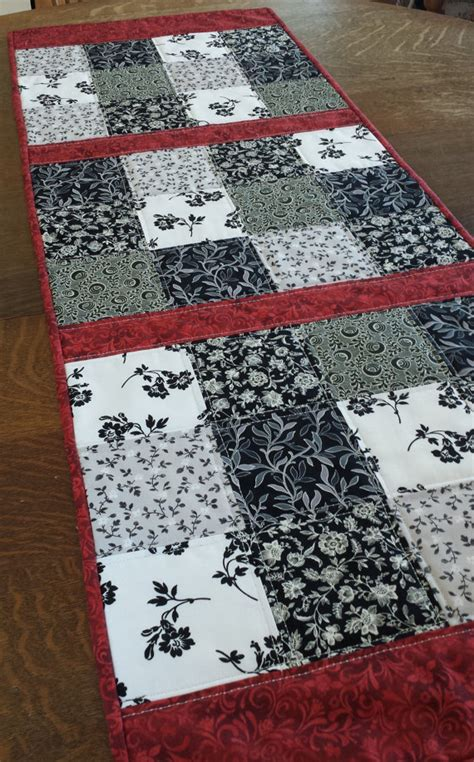 Patchwork Table Runner Patterns - quilted table runner table runner quilted patchwork runner