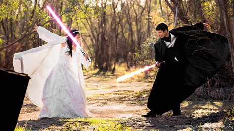Wedding Lightsaber by Wars Wedding On 5 000 Budget Features Lightsabers