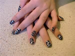 zebra nail art designs acrylic nail designs