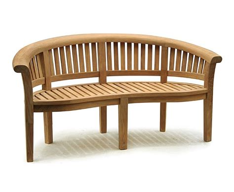 teak banana bench teak banana bench and coffee table set