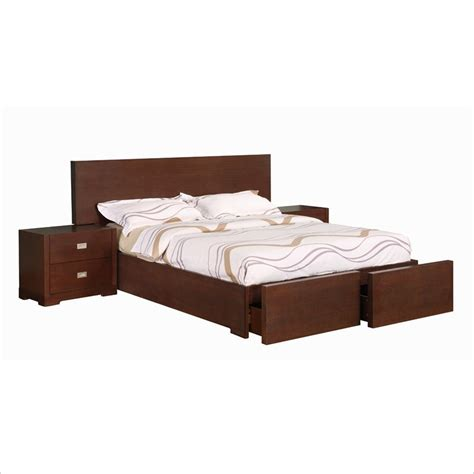 platform bed queen with storage allora furniture brooklyn queen wood storage platform