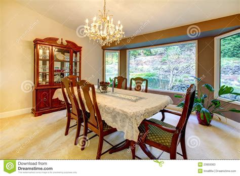 dining room  large window  american house stock