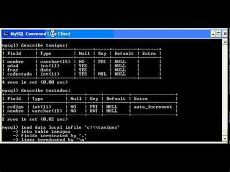 tutorial de mysql en xp tutorial mysql importacion de datos en mysql para ms