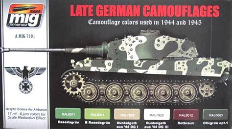 A Mig 001 Ral 6003 Olivgrun Opt1 hobbymex 7101 set late german camouflages ammo mig
