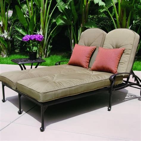 2 person chaise lounge indoor 2 person chaise lounge darlee charleston patio chaise