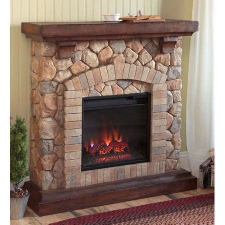 stacked electric fireplace heater ventless