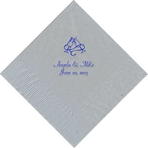 personalized wedding party baby shower beverage napkins