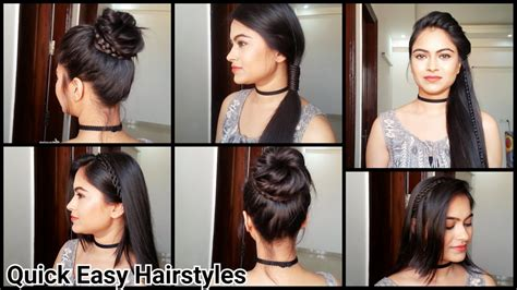 Hairstyles For Medium Hair For School Easy by Everyday Easy Hairstyles Indian Hairstyles For