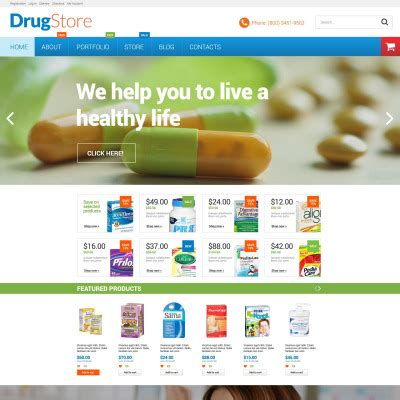 bootstrap templates for pharmacy drug store templates templatemonster