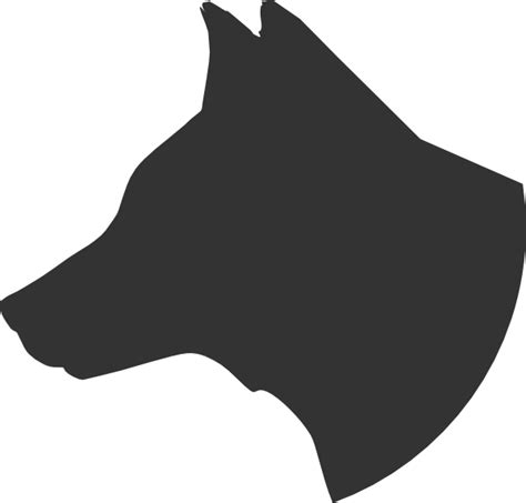 dog head silhouette clip art dog head profile clip art at clker com vector clip art