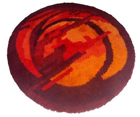 large  mid century scandinavian rya rug modernism