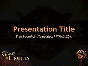 free game of thrones powerpoint template pptmag