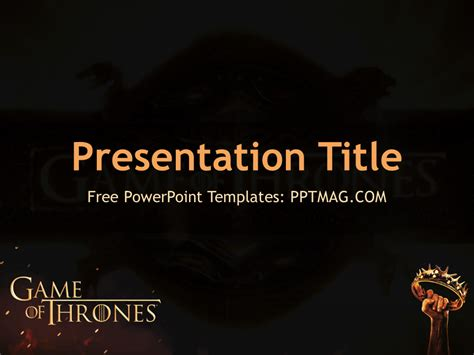 tv show powerpoint templates free of thrones powerpoint template pptmag