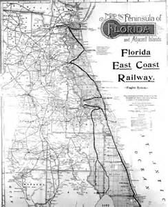 florida rail map florida memory map showing the florida east coast