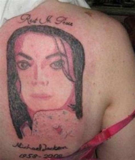 shitty tattoos 15 of the worst bad michael jackson tattoos