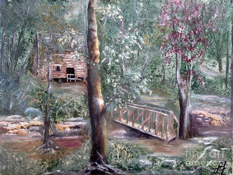 1840 cabin tishomingo state park mississippi painting by