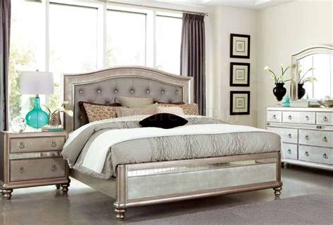 Coaster King Bedroom Set by Bling Bedroom Collection 204181 Coaster