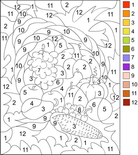 printable turkey color by number printable color by number for adults color by number