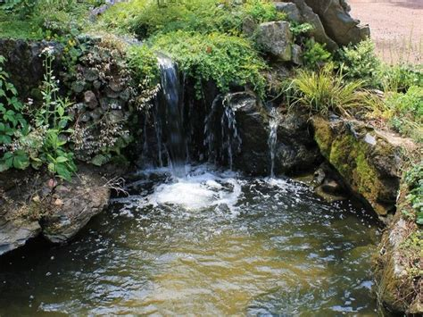 rock garden pond waterfall pond and rock garden asian