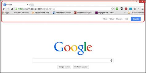google chrome top bar how to use google chrome an overview top bar kirby s