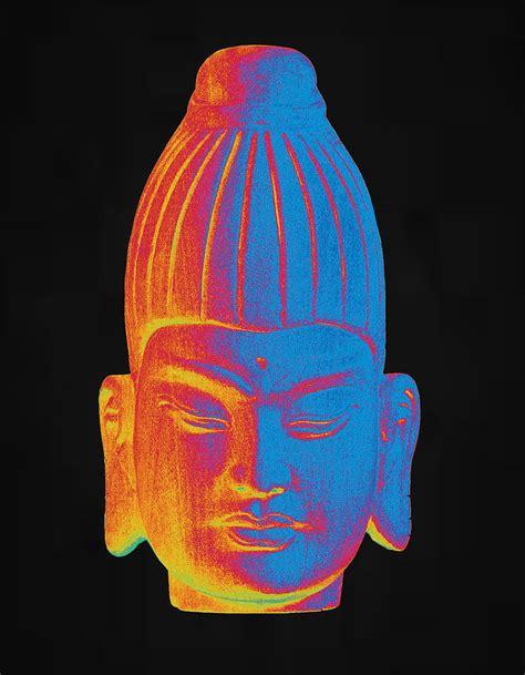 colorful buddha colorful buddha burmese sculpture by terrell kaucher