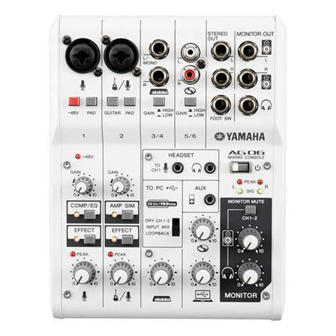 Mixer Yamaha Usb yamaha ag06 usb mixer audio interface