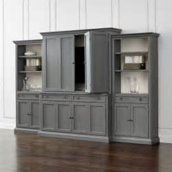 Outdoor Patio Sectionals Cameo 4 Piece Grey Storage Bookcase Entertainment Center