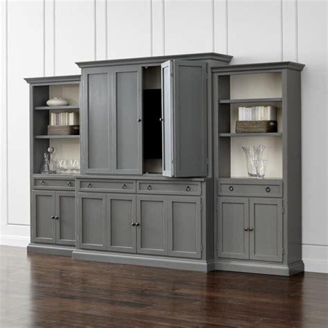 Espresso Dining Room Furniture cameo 4 piece grey storage bookcase entertainment center