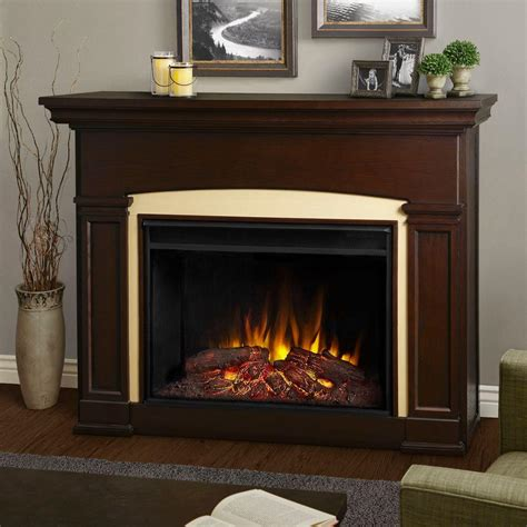 In Electric Fireplaces by Real Silverton 48 In Electric Fireplace In Black