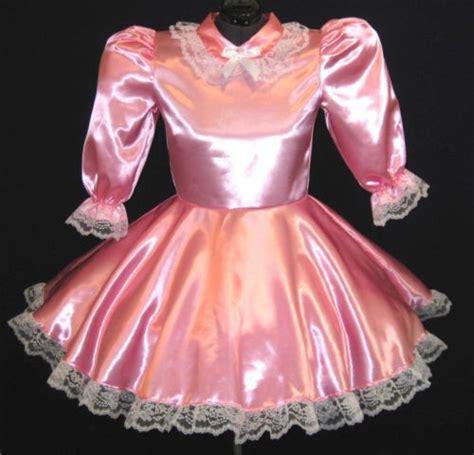 sissy baby in satin dress custom fit satin adult baby sissy dress leanne in clothing