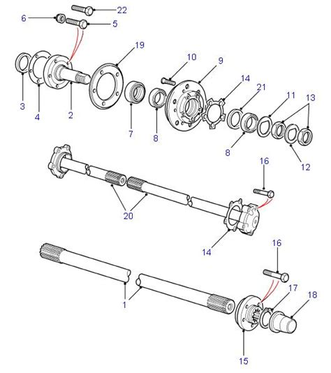 automobile front axle beam and stub axle different land rover parts rear hubs driveshafts defender
