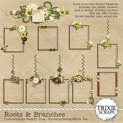 family tree template scrapbook family tree template family tree template digital