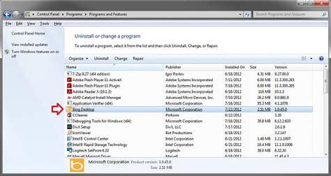 remove bing from my computer windows 10 bing desktop solved windows 7 help forums